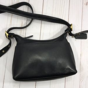 Coach vintage black leather cross body bag